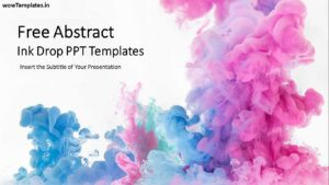 Abstract Ink Drop PowerPoint Templates Feature Image