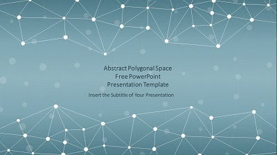Abstract Polygonal Space PowerPoint Templates Feature image