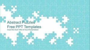 Abstract Puzzle Presentation Template _Feature Image
