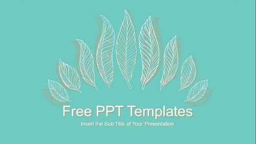 Linear Leaves PowerPoint Presentation Template Feature Image