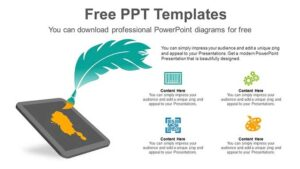 Feather-Nib-PowerPoint-Diagram-post-image _ wowTemplates.in