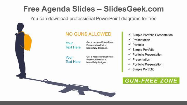Guns-Free-Zones-PowerPoint-Diagram