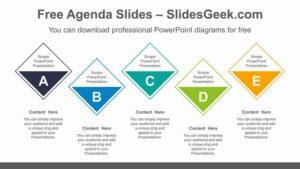 Horizontal-Diamond-List-PowerPoint-Diagram
