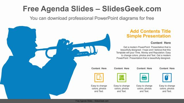 Naval-Trumpet-Playing-PowerPoint-Diagram