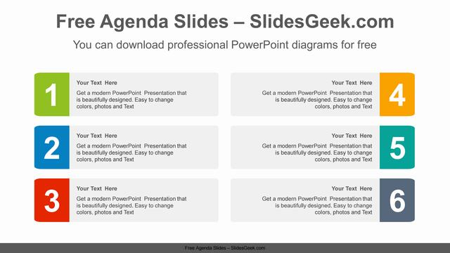 Numbered-banner-PowerPoint-Diagram-Template