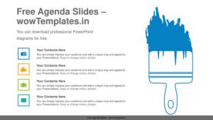 Paint-brush-list-PowerPoint-Diagram-Template-1