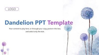 Purple Dandelion PowerPoint Presentation Template Feature Image