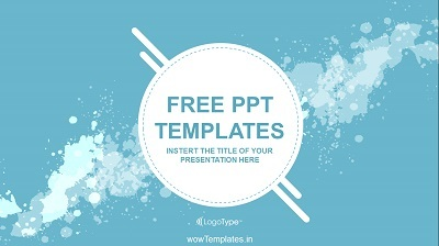 Water-Colored-Splashes-PowerPoint-Template Feature Image