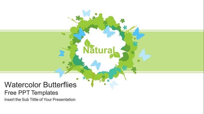 Watercolor Butterflies PowerPoint Presentation feature image