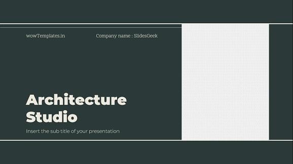 Architecture Studio Presentation Template Feature Image