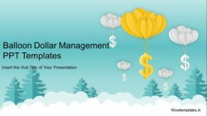 Balloon Dollar Management Concept PowerPoint Template Feature Image