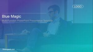 Blue Magic Presentation Template Feature Image