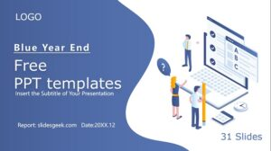 Blue Year End Summary Presentation Feature Image