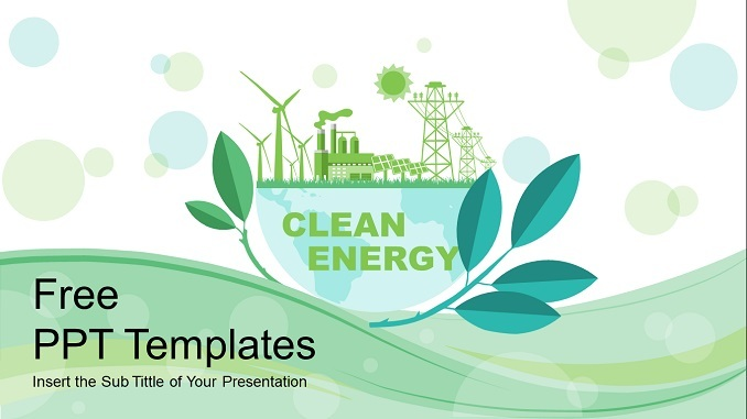 Clean Energy PowerPoint Presentation Template Feature Image