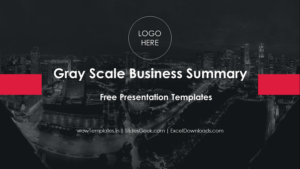 Gray Scale Business Summary PowerPoint Presentation _ wow Templates _ Feature Image