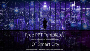 IOT Smart City PowerPoint Presentation Template Free_wowTemplates_Feature Image