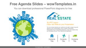 Real Estate Agenda Presentation Template and Design
