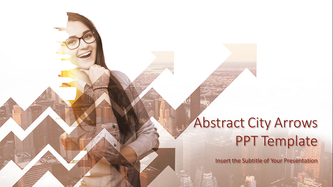 Abstract City Arrows PowerPoint Templates Feature Image