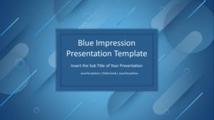 Blue Impression Presentation Template Feature Image