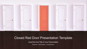 Closed Red Door PowerPoint Templates Feature Image