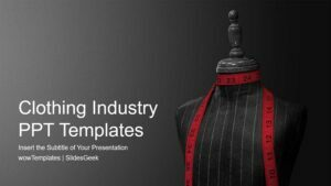 Clothing Industry PowerPoint PPT Templates _wowTemplates_ Feature Image