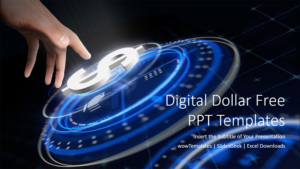 Digital Dollar Sign PowerPoint Templates_wowTemplates_Feature Image