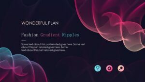 Fashion-Gradient-ripples-PowerPoint-Templates-Feature Image