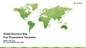 Global Business Map Presentation Template Feature Image
