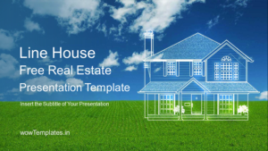 Line House PowerPoint Templates Feature Image