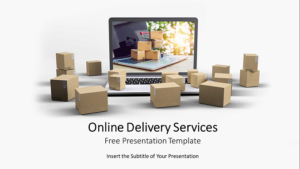 Online Delivery Service PowerPoint Templates Feature Image