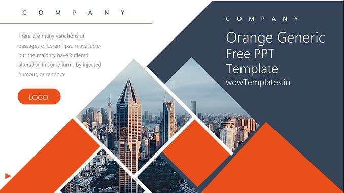 Orange Generic Presentation Template Feature Imag