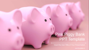 Pink Piggy Bank PowerPoint Templates Feature Image