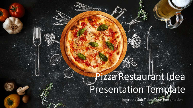Pizza Restaurant PowerPoint Templates Feature Image
