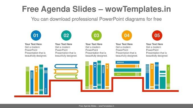 Shelf-arranged-books-PowerPoint-Diagram-Templates-feature image