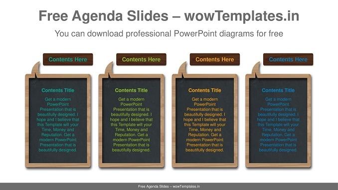Speech-bubble-blackboard-PowerPoint-Diagram-Template-feature image