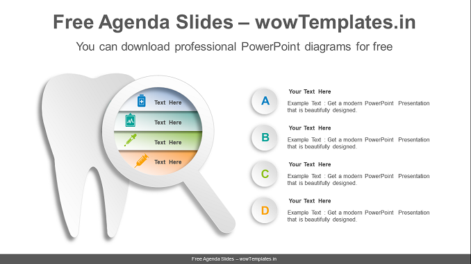 Tooth-magnifier-PowerPoint-Diagram-Template-feature image