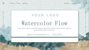 Watercolor Flow Business Presentation Template Feature Image