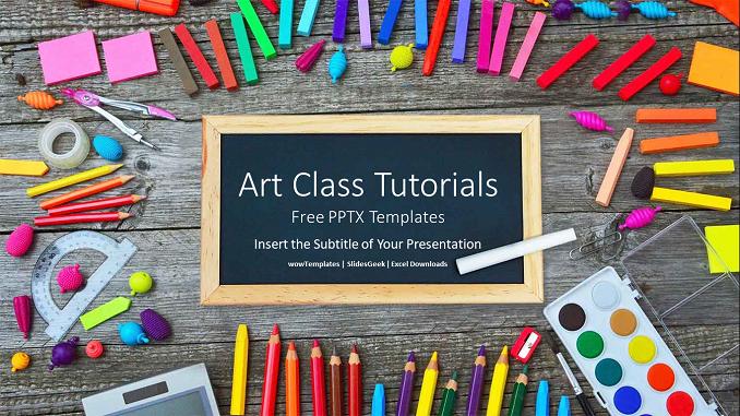 Art Class Tutorials Presentation PowerPoint Templates feature imag