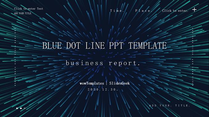 Blue-dot-line-business-PowerPoint-Templates Feature Image