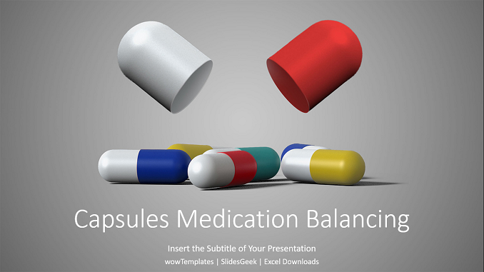 Capsules Medication Balancing PowerPoint Templates_wowTemplates_feature image