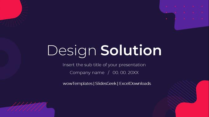 Design Solution -Presentation Template _ feature Image