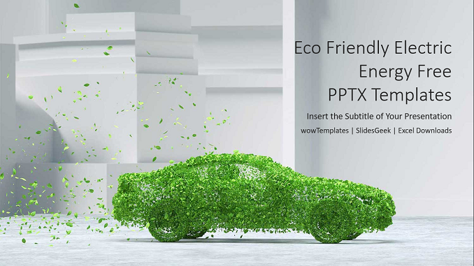Eco Friendly Electric Energy PowerPoint Templates feature image