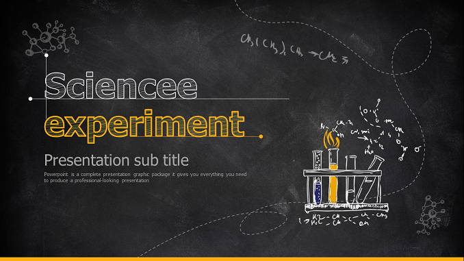 Science Experiment Presentation Template feature image