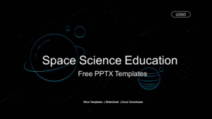 Space Science Education Presentation Template Feature Image