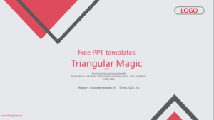 Triangular Magic Business Presentation Template Feature Image