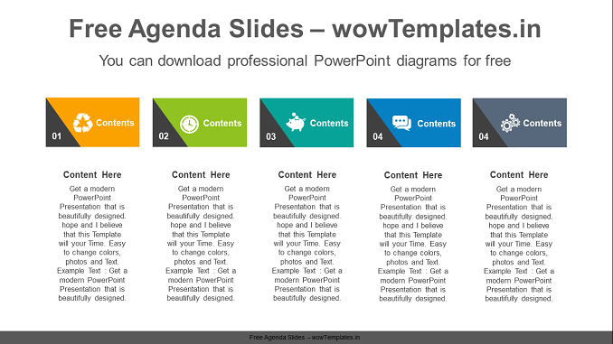 Triangle-point-text-boxes-PowerPoint-Diagram-Template-feature image