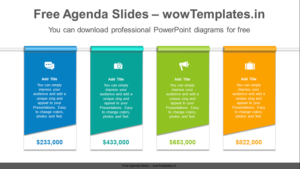 Vertical-flag-banner-PowerPoint-Diagram-Template-feature image