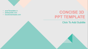concise-3D-powerpoint-template feature image