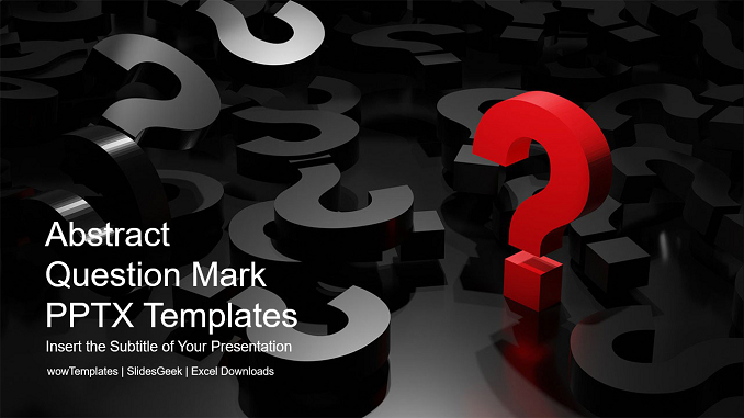 Abstract Question Mark PowerPoint Templates Feature Image