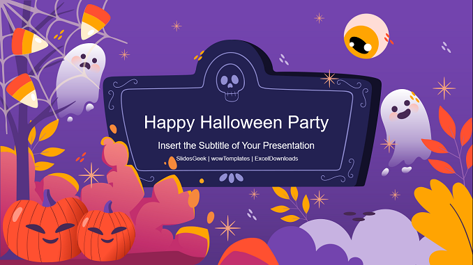 Happy Halloween Party PowerPoint Templates Feature Image
